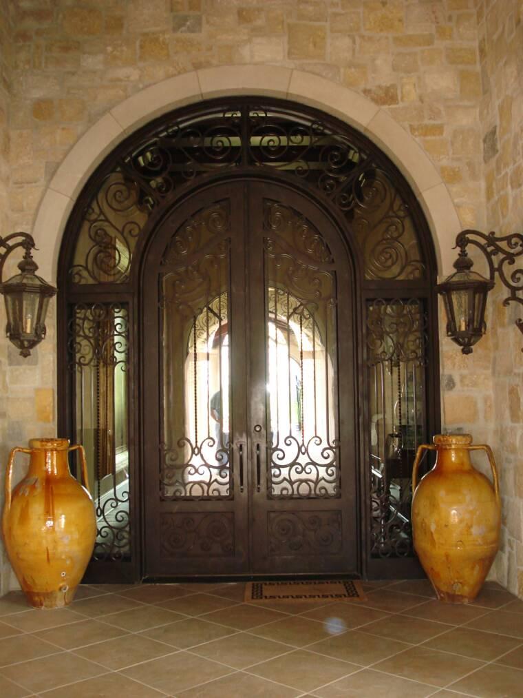 Iron Entry Door Custom Entry Doors Door Made Wrought Iron